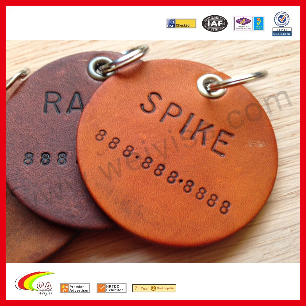 Custom leather dog tag best selling products