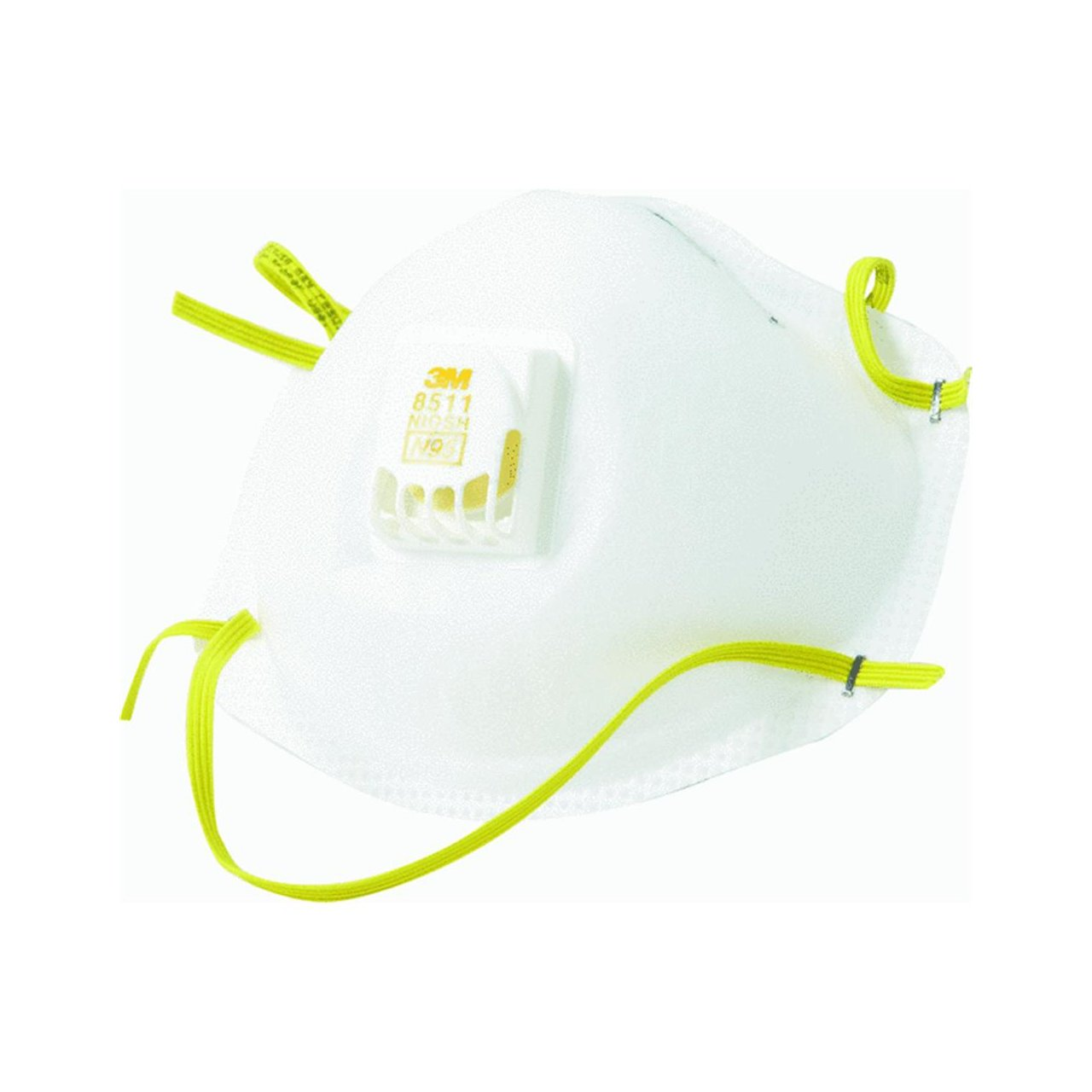 3M 8511 Particulate N95 Respirator with Valve, 20-Pack