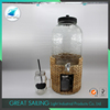 10L Houseware Beverage Jar with iron lid and paper stand