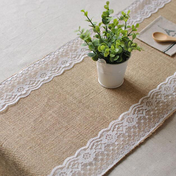 Competitive Price Hot Selling Jute Fabric Indian Table Runners