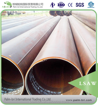 line welding GI LSAW steel pipes factory suppliers chemical industry oil drilling 36inch