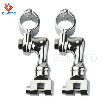 "ZJMOTO 1 1/4"" (32mm) Engine Guard Tubing Motorcycle Foot Peg Foot Rest Clamps For Motorcycles"