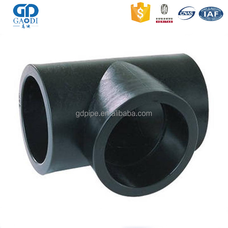 seamless cs din 8 inch sch40 carbon steel equal tee