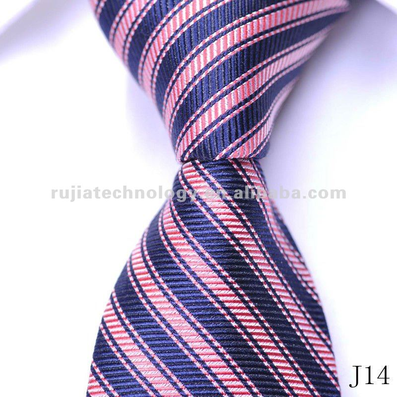 striped jacquard woven silk necktie men's ties