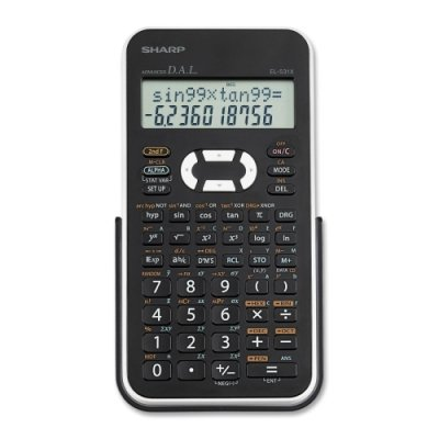 Sharp EL531X Scientific Calculator - 272 Functions - 2 Line(s) - 12 Character(s) - LCD - Battery Powered - 1.5quot; x 3.3quot; x 6quot; - Black, White
