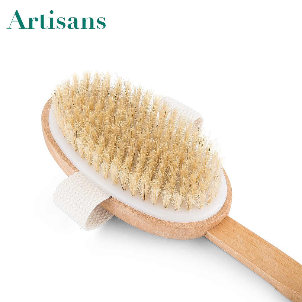 Top selling custom logo boar bristles wooden washing brush with removable handle