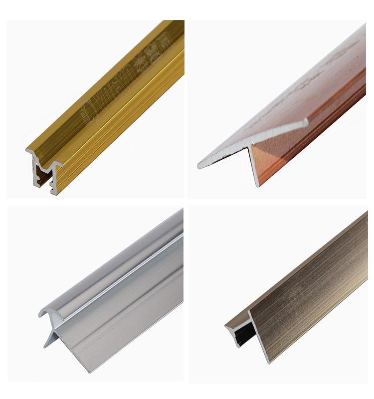 Smooth Aluminium Tile Edge Trim Protection Metal Edging Strip T Shape Floor  Transition Trim - Buy Aluminum Tile Trim Price,Bullnose Trim,Curved Tile