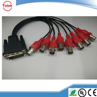 Hot selling Green Connection DVI-D /DVI-I Single/Dual Link dvi to BNC splitter Electric Cable