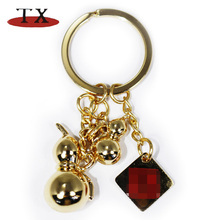 Creative design trinkets, gourd shape key ring several parts of metal key chain