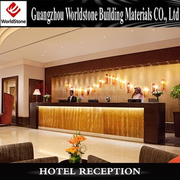 Luxury hotel reception table design standing reception for Hotel reception design