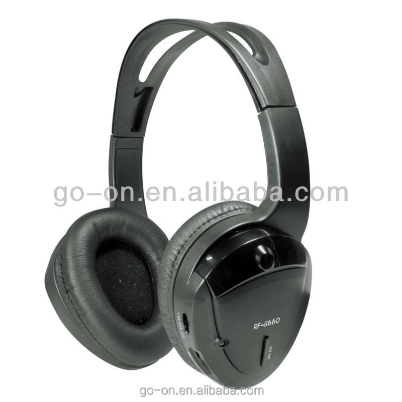 wireless RF stereo headphone system for party and event use
