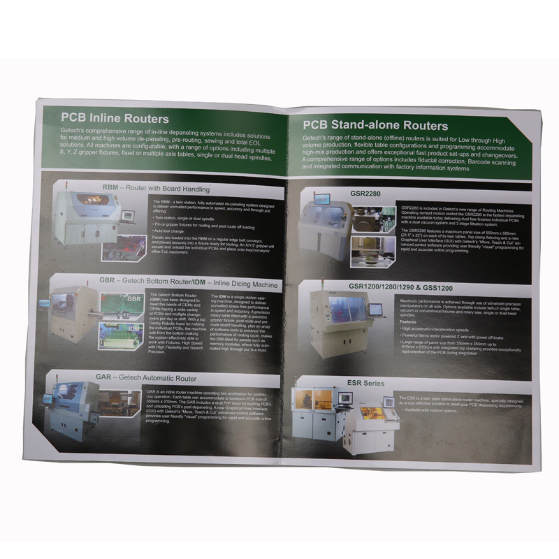 Online Alibaba Custom Printed Full Color Advertising Sample Flyers Printing