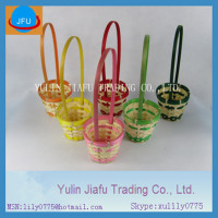 bamboo basket mini small coloured bamboo gift basket bamboo fruit basket