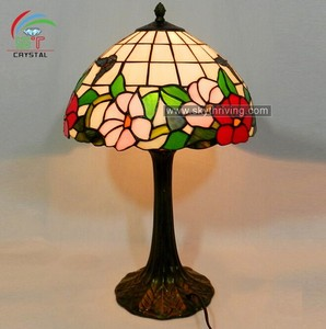elegant tiffany lamp with flower shade