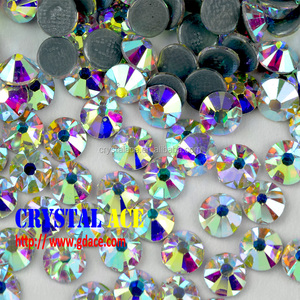 Best quality 16 facets ss16 crystal AB hot fix rhinestone for garments