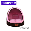 Pink christmas Pet house bed with half open