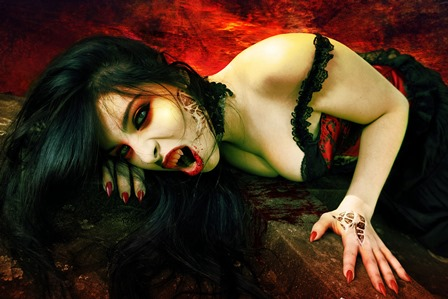 Avelina De Moray dark horror fantasy gothic evil vampire women brunette sexy babes 4 Size Home Decoration Canvas Poster Print