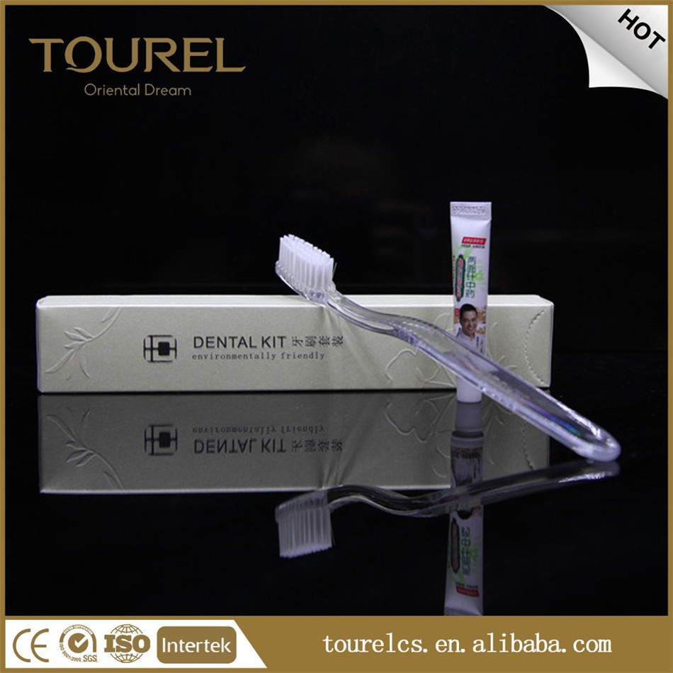 Eco friendly disposable hotel amenities set hotel toothbrushes