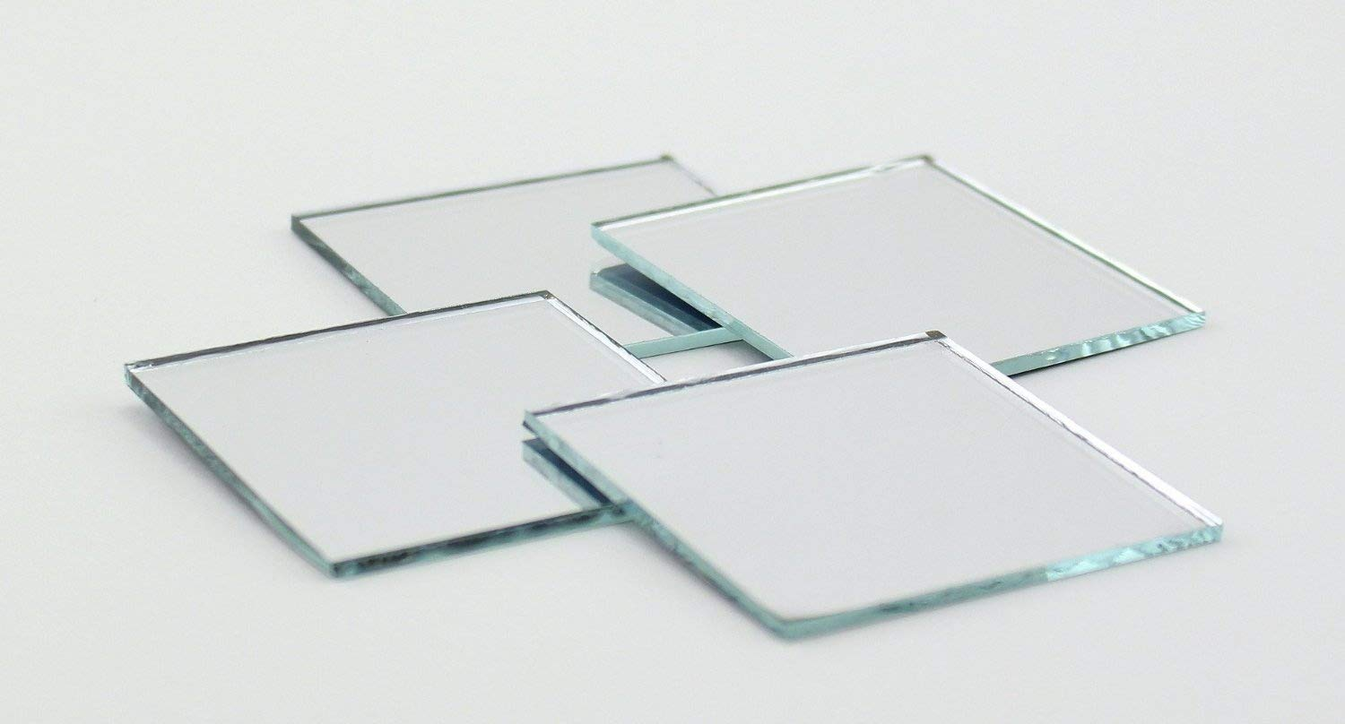 2 inch Glass Craft Small Square Mirrors Bulk 50 Pieces Square Mosaic Mirror Tiles