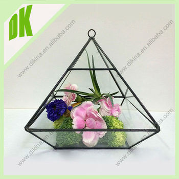 Teardrop Triangle Diamond Pot For Flowers // Stained Geometric Tillandsia  Candle Holder Vase//