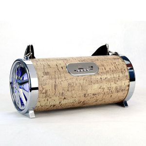 Hot selling 20W 1200mAh mobile speaker, wood bluetooth karaoke speaker vulcano radio boombox