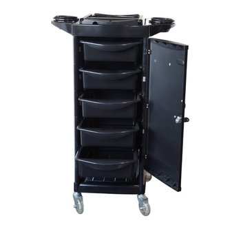 Economical Salon Trolley High Quality Black Professional Hair Salon Furniture Cart