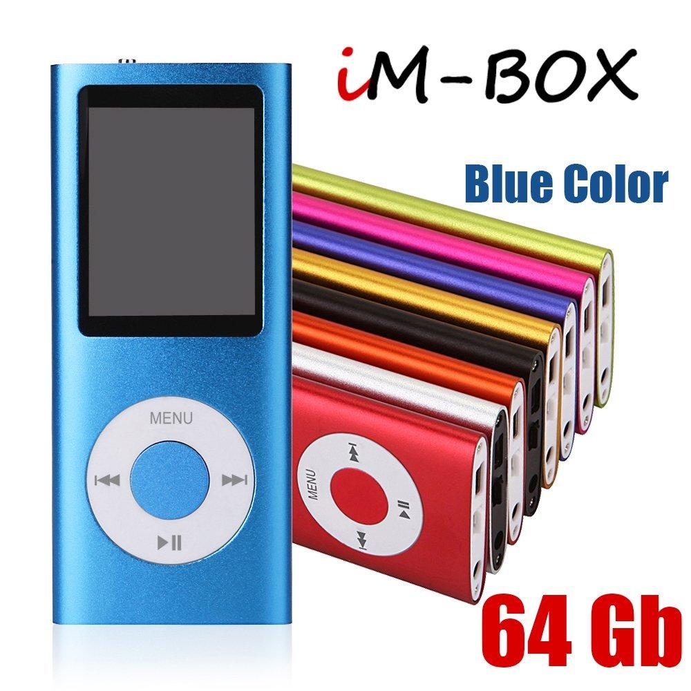 iM-BOX 64 Gb Mini Usb Port Slim Small Multi-lingual Selection 1.8 LCD Portable MP3/MP4, MP3Player , MP4 Player , Video Player , Music Player , Media Player , Audio Player (Blue Color)