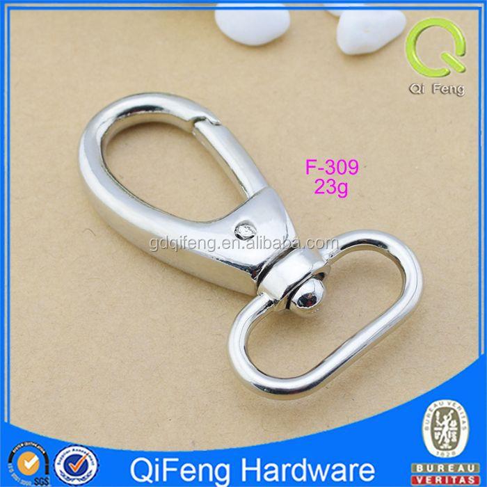 F-309 Snap Hook Key Ring Dog Leash Hook Bag Hook Silver Bag Parts ...