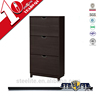 Home furniture 3 tier wooden color shoe storage cabinet