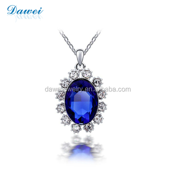 New Arrival Greek Jewelry Designers Blue Gemstone Necklace For Gift
