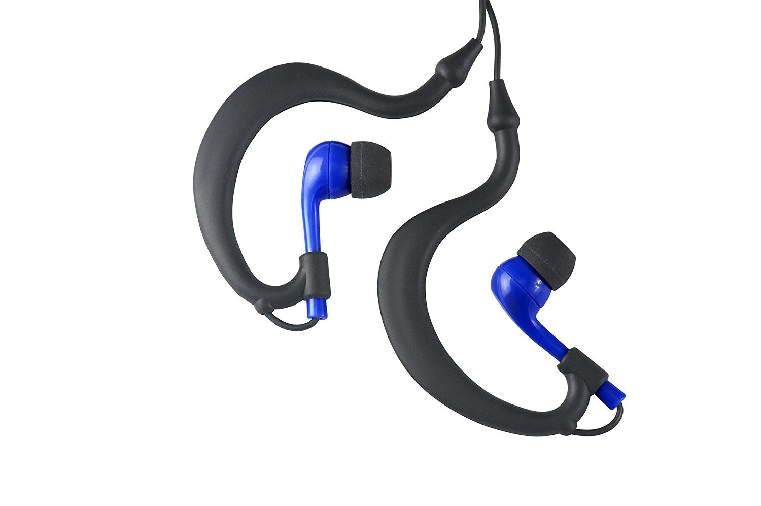 Uwater Triple-Axis 100% Waterproof Action Stereo Earphones-Black/Blue