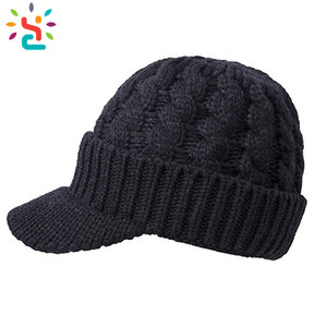 02393a9fb4746 Knit Cap With Brim