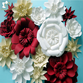 Beauty Romantic Flowers Wall Artificial Tissue Paper Flowers ...