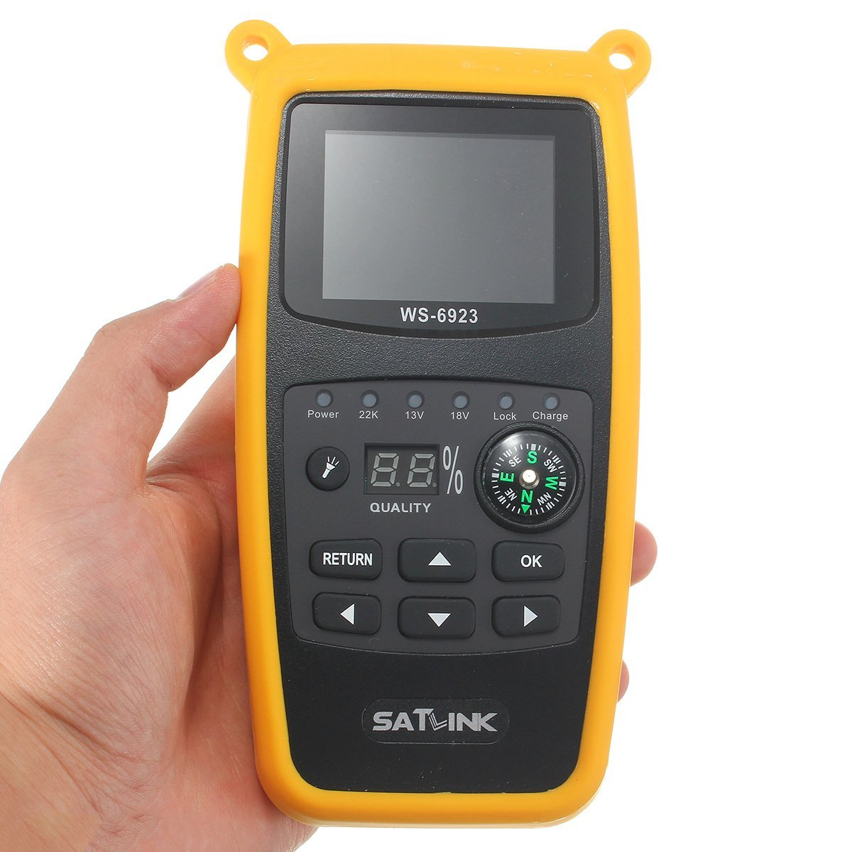 Satlink WS-6923 DVB-S FTA C&KU Band Digital Satellite Finder Meter Satellite Receiver with 2.1inch LCD Display