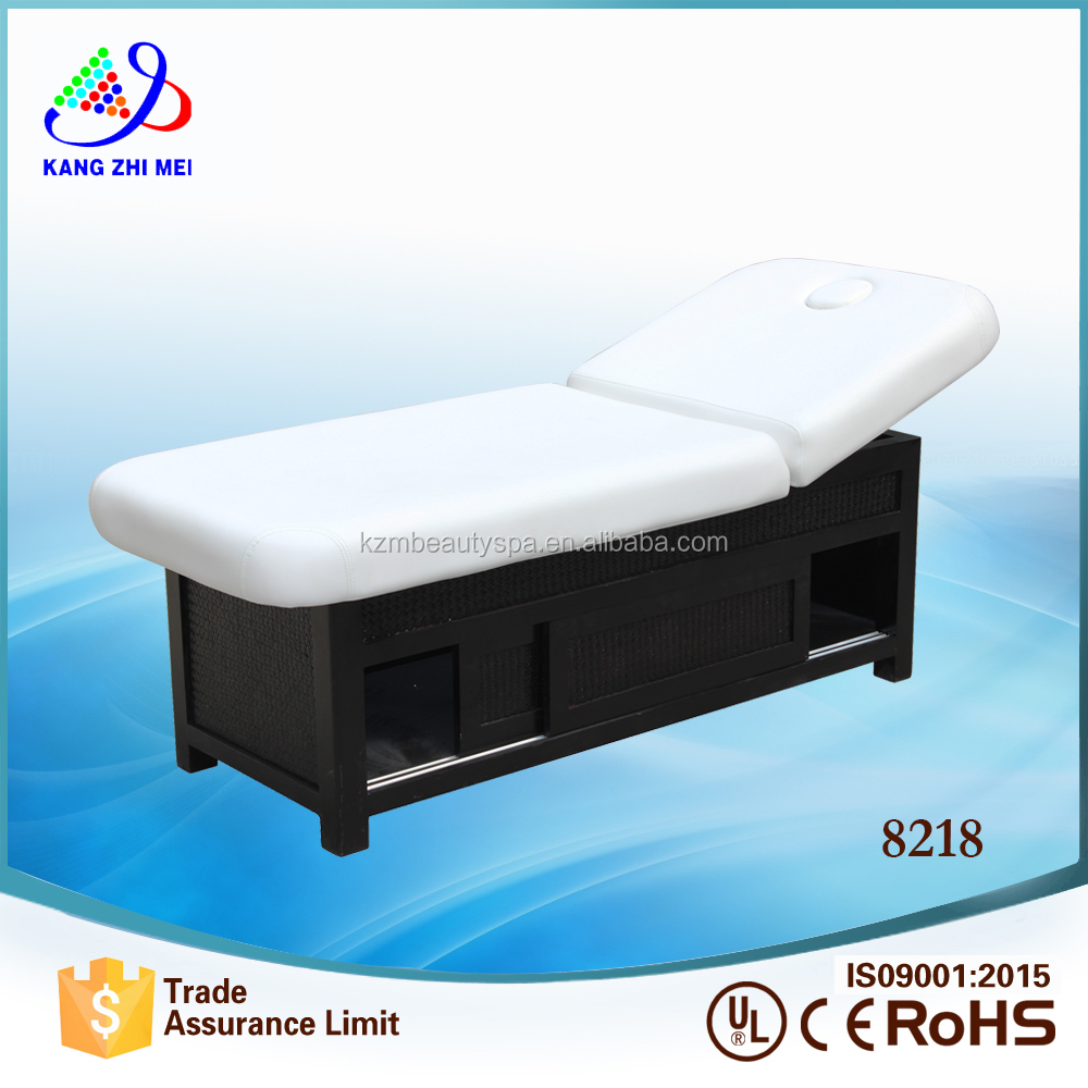 wooden adjustable bed for beauty salon with face hole 8218