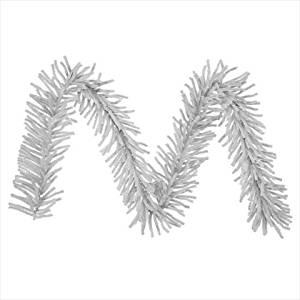 sparkling silver tinsel artificial christmas garland unlit - Christmas Garland Wholesale