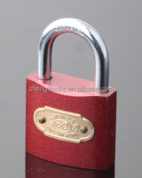 factory supplier Red spray painted shengli / tri-circle brand origin cheap padlocks keyed alike