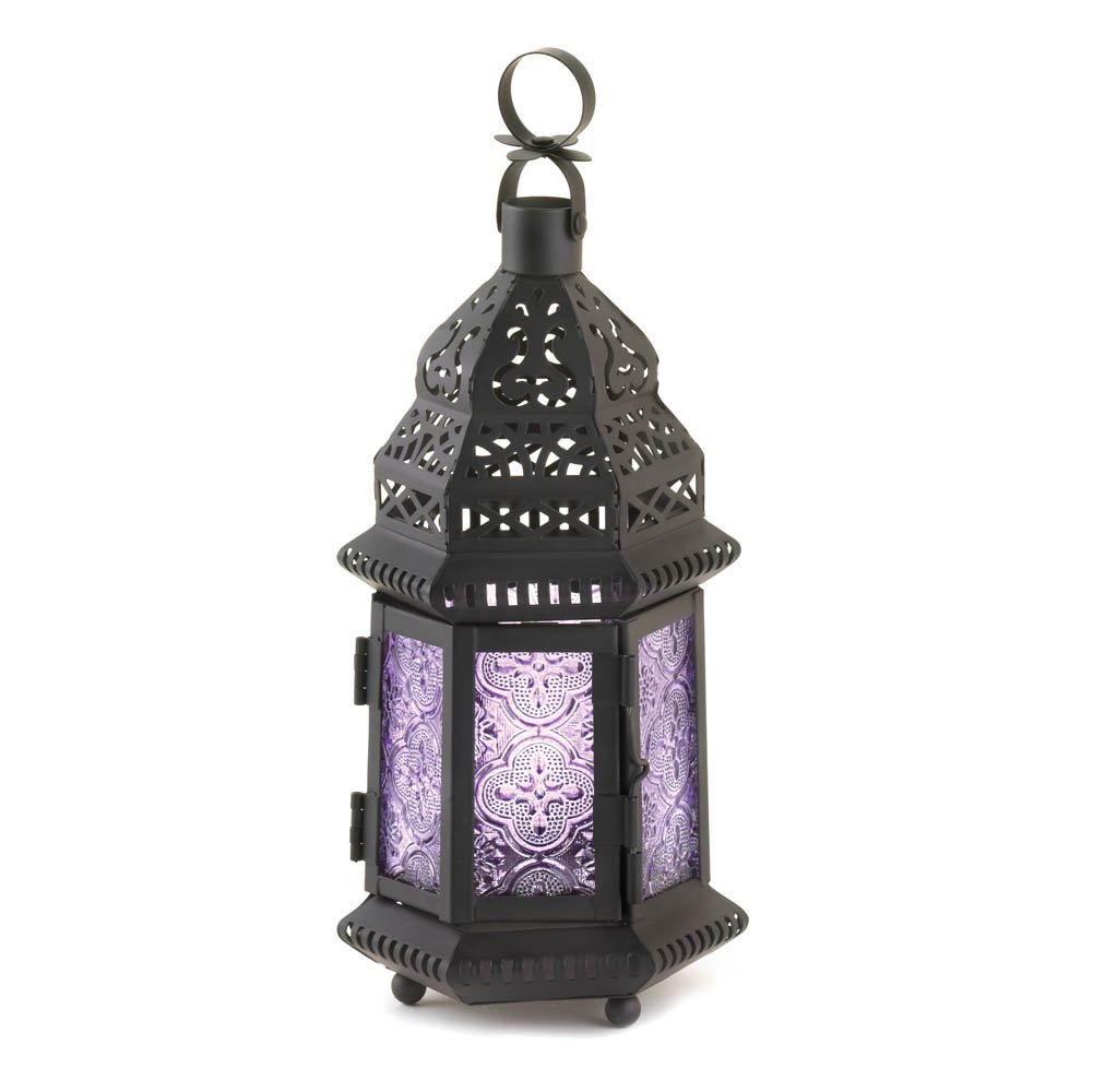 Lavender Moroccan Style Lantern Home Decor Lighting Accessories Light Table Accessories Home Decor Home Decorative Items Accessories and Gifts