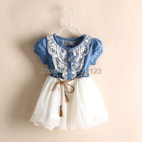 Girls Baby Kids Princess Lace Belt Tutu Denim Tulle Gown font b Fancy b font font