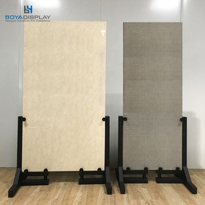 SIM094 simple metal rack to display large tile panel wood flooring panels in exhibition show