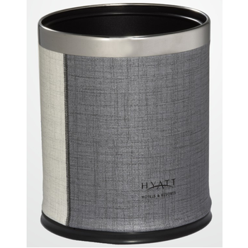 Customizable Hotel Room PU leather Double Layer Dustbin