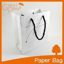 Top Quality Vogue Style White Shopping Paper Kraft Bag for Cosmetic