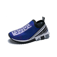 Fashion hot sale casual sports shoes with diamond for women
