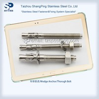 Stainless Steel 304 316 Wedge Anchor/Through Bolt/Concrete fasteners