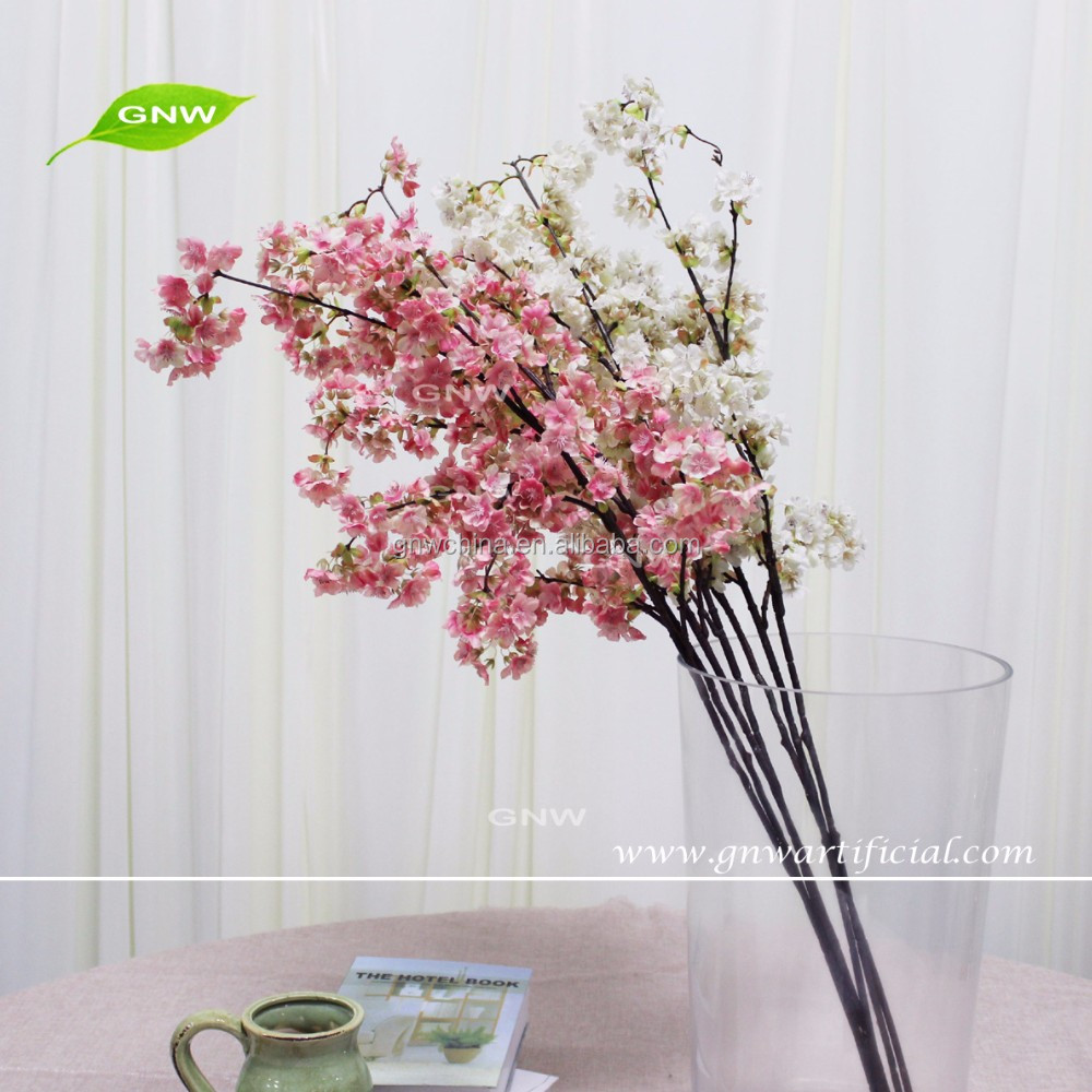 GNW BLB-CH1605008 Hot sale wholesale faux cherry blossom branches for vase decoration