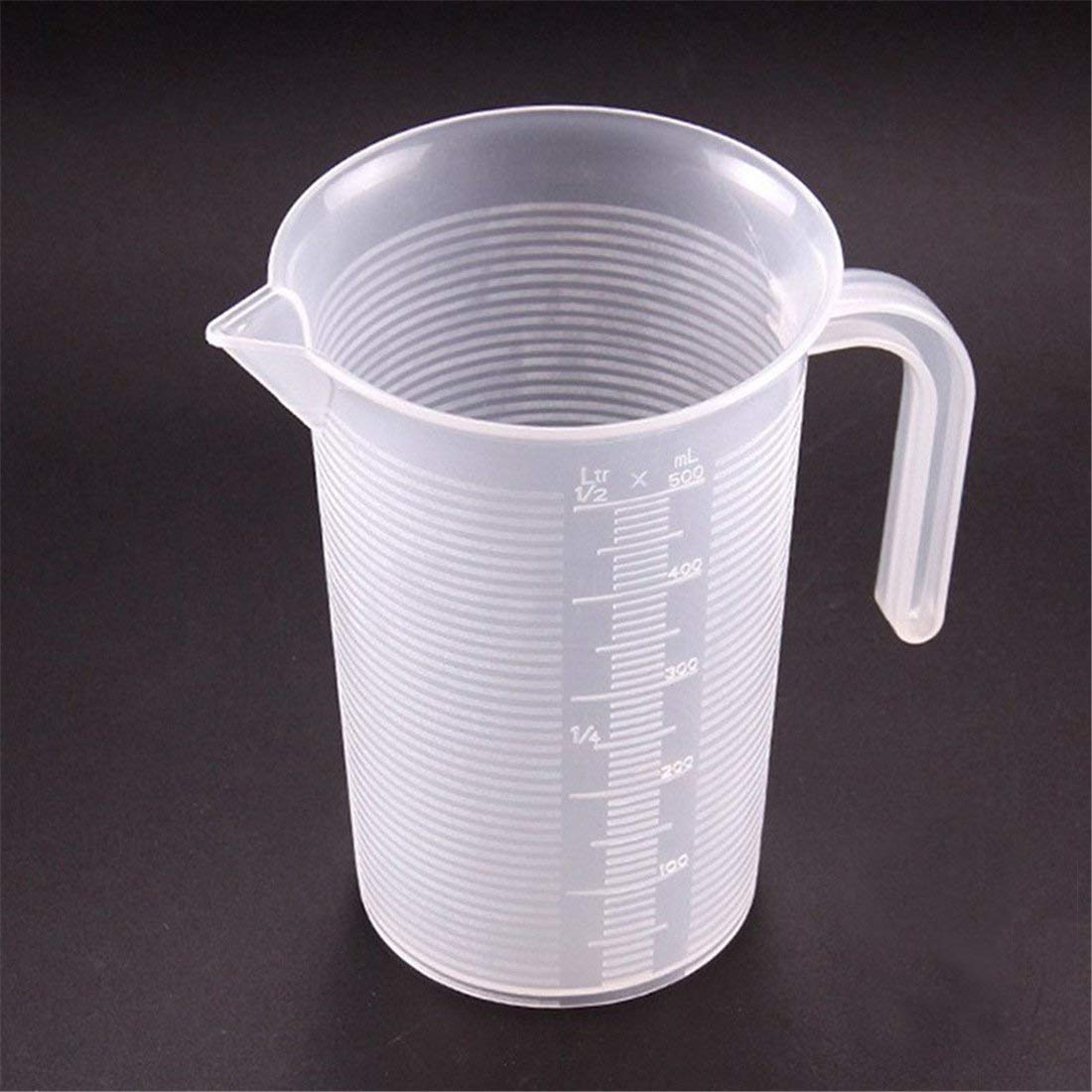Transparent Plastic Liquid Measuring Cup with Spout Clear ML OZ Measuring Tools for Kitchen Baking Cooking,100ml 250ml 500ml 1000ml