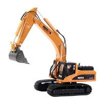 TongLi toy 1/40 professional durable alloy metal excavator construction diecast model car toy engineering vehicle