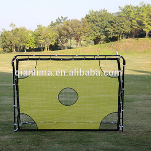 Customized foldable PVC football soccer goal with shooting target