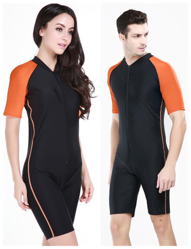 ca82fdacbb Sbart 2015 Zipper Design Men and Women Swimming Wetsuit Spearfishing-Suit  Full Body Swimwear Diving Bathing Suits