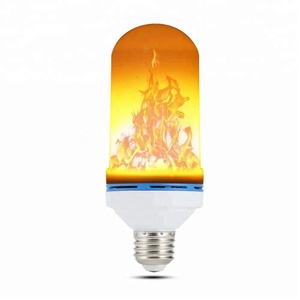 LED Flame Effect Light Bulb - E26 Standard Base - Atmosphere Decoration Fire Flickering Simulation 99 pcs 2835 LED Beads -Flame